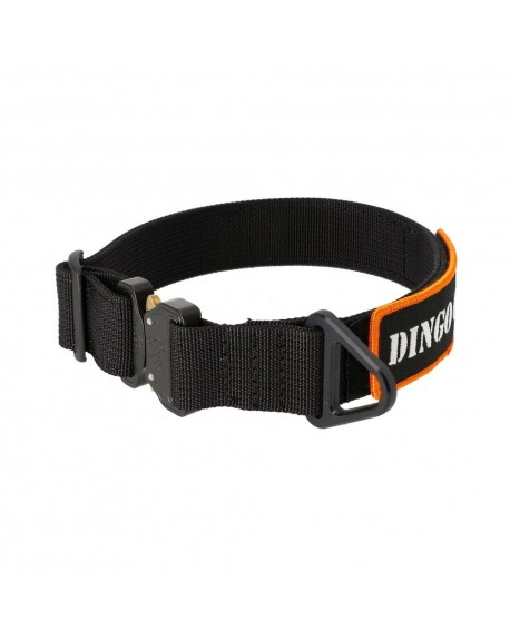 DINGO DOG COLLAR BLACK COBRA