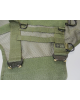 Tactical harness on a construction mesh.