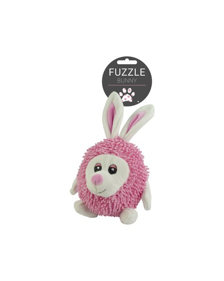 FUZZLE CUDDLY TOY WITH SQUEAKER RABITT