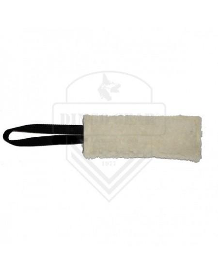 Teether shredder plush sheep wool with one grip 8 x 25cm, natural (cream)